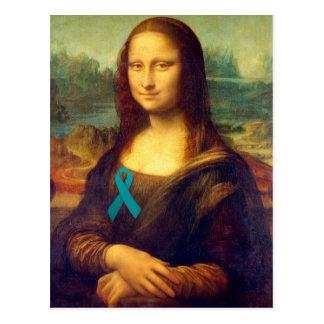 Mona Lisa con la cinta del trullo Postal