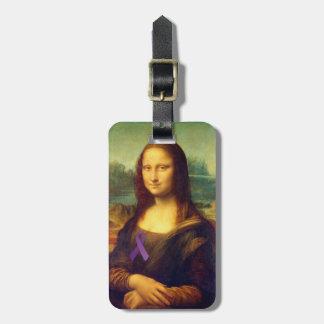 Mona Lisa con la cinta púrpura Etiquetas Bolsas