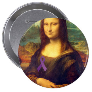 Mona Lisa con la cinta púrpura Pin