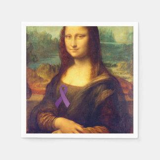 Mona Lisa con la cinta púrpura Servilleta Desechable