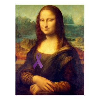 Mona Lisa con la cinta púrpura Tarjetas Postales