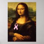 Mona Lisa con la cinta rosada Impresiones