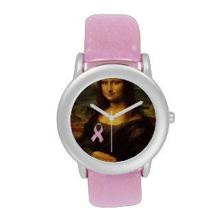 Mona Lisa con la cinta rosada Reloj De Mano