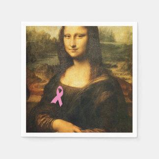 Mona Lisa con la cinta rosada Servilleta De Papel