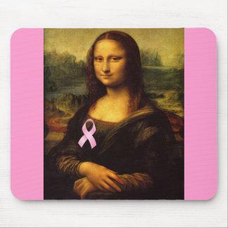 Mona Lisa con la cinta rosada Alfombrilla De Ratón