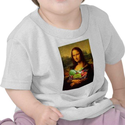 Mona Lisa con las verduras Camiseta