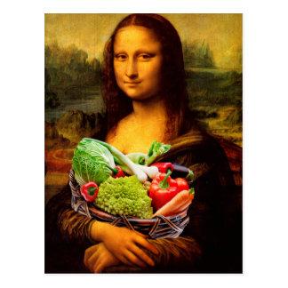 Mona Lisa con las verduras Postal