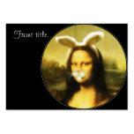 Mona Lisa con los oídos y las barbas del conejito