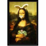 Mona Lisa con los oídos y las barbas del conejito Escultura Fotográfica