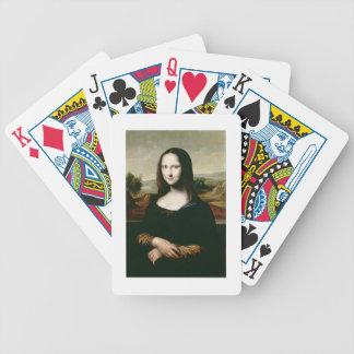 Mona Lisa, copia de la pintura por Leonardo DA Vin Cartas De Juego
