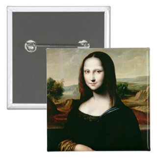 Mona Lisa, copy of the painting by Leonardo da Vin Pinback Button