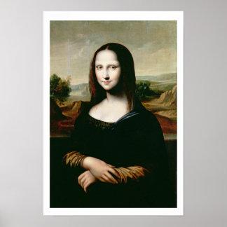Mona Lisa, copy of the painting by Leonardo da Vin Poster