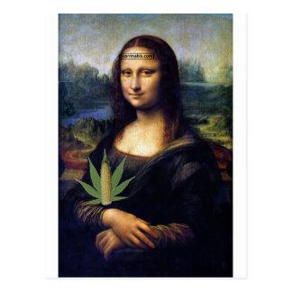 Mona Lisa cornnabis Post Cards