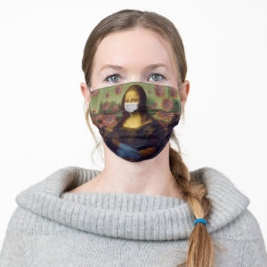 Mona Lisa Coronavirus Virus Protective Gear, ZSSG Cloth Face Mask