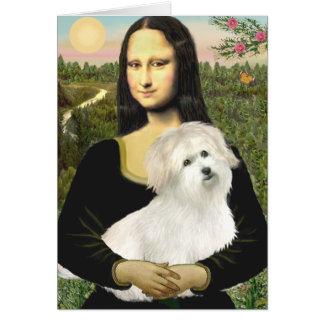 Mona Lisa - Coton de Tulear 7 Greeting Card