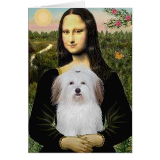 Mona Lisa - Coton De Tulear Greeting Cards