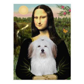 Mona Lisa - Coton De Tulear Postcard