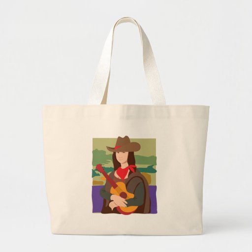 Mona Lisa Cowgirl Jumbo Tote Bag