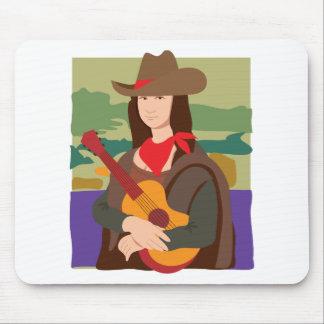 Mona Lisa Cowgirl Mouse Pad