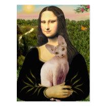 Mona Lisa - Cream Sphynx cat Postcard