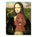 Mona Lisa - Dark Red Standard Poodle #1 Postcard