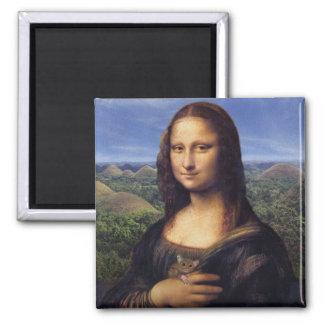 Mona Lisa de Bohol Imán Cuadrado
