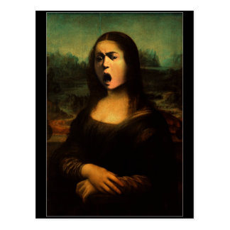 Mona Lisa de Caravaggio Tarjetas Postales