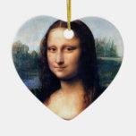 Mona Lisa de Leonardo da Vinci, 1503-1506 Ornamentos De Navidad