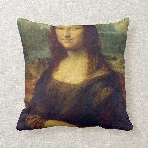 Mona Lisa de Leonardo da Vinci Almohada