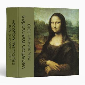 """Mona Lisa de Leonardo da Vinci, arte renacentista Carpeta 1 1/2"""""""