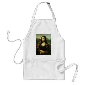Mona Lisa de Leonardo da Vinci, arte renacentista Delantal