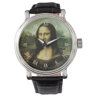 Mona Lisa de Leonardo da Vinci, arte renacentista Reloj