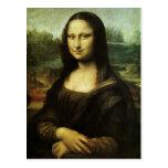 Mona Lisa de Leonardo da Vinci, arte renacentista Postal