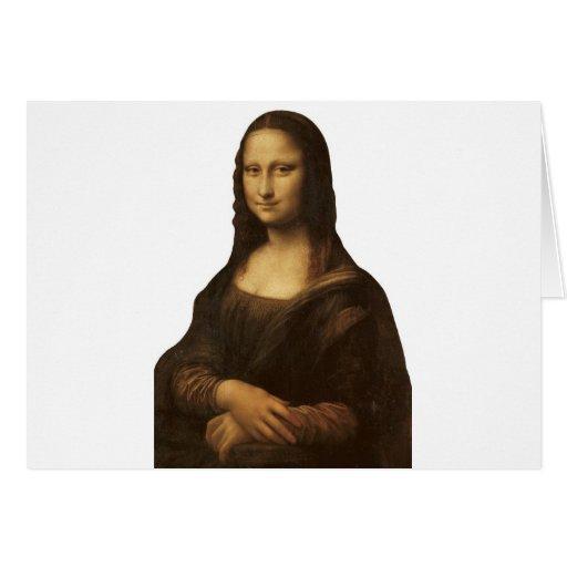 Mona Lisa de Leonardo da Vinci circa 1505-1513 Tarjeta De Felicitación