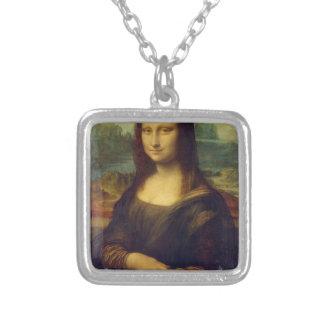Mona Lisa de Leonardo da Vinci Colgante Cuadrado