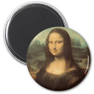 Mona Lisa de Leonardo da Vinci Imán Redondo 5 Cm