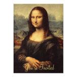 Mona Lisa de Leonardo da Vinci Invitación 12,7 X 17,8 Cm