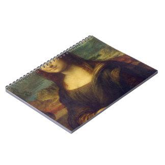 Mona Lisa de Leonardo da Vinci Libreta