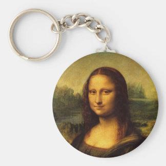 Mona Lisa de Leonardo da Vinci Llavero Redondo Tipo Pin