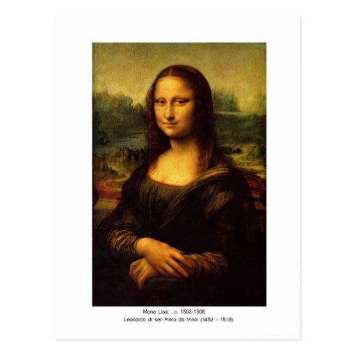 Mona Lisa de Leonardo da Vinci Postal
