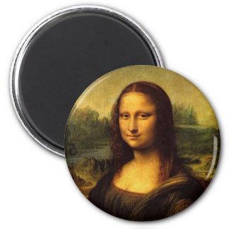 Mona Lisa de Leonardo DE Vinici Imán Redondo 5 Cm
