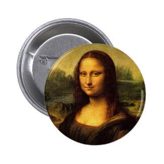 Mona Lisa de Leonardo DE Vinici Pin Redondo 5 Cm