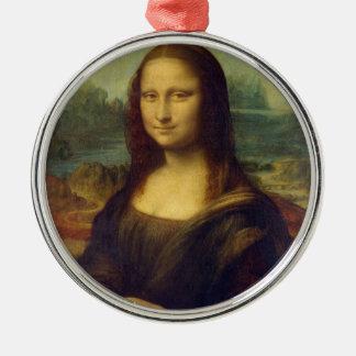 Mona Lisa Adorno Redondo Plateado