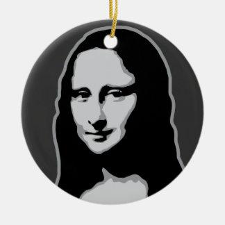 Mona Lisa Adorno Redondo De Cerámica