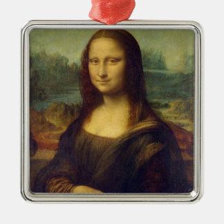 Mona Lisa Adorno Cuadrado Plateado