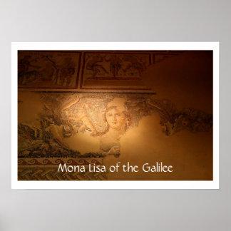 """""""Mona Lisa del Galilea"""", Sepphoris, Israel Póster"""