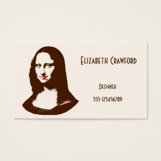 Mona Lisa Designer or Artist Business Card