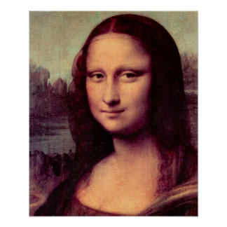 Mona Lisa (Detail) by Leonardo da Vinci Poster