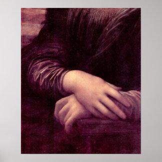 Mona Lisa Detail by Leonardo da Vinci Posters