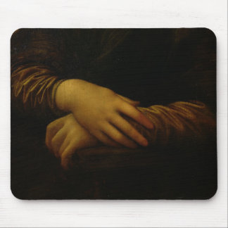 Mona Lisa, detail of her hands, c.1503-06 Mouse Pad